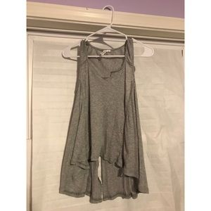 Tops - Grey flowy ribbed tank